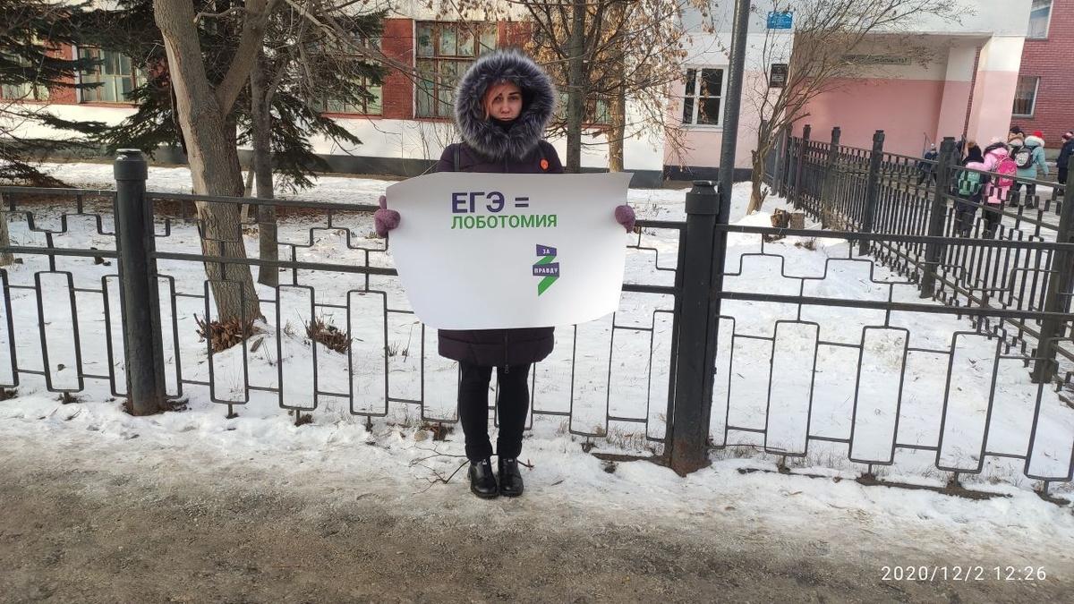 Акции за отмену ЕГЭ и онлайн-обучения прошли в трех городах Нижегородской области - фото 1