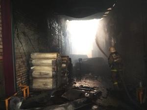 Пожарный поезд направлен на ликвидацию возгорания склада полиэтилена в Дзержинске