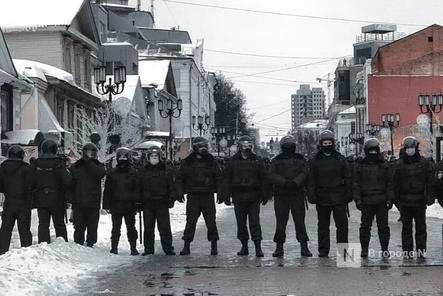 182 человека задержаны 31 января на несогласованном митинге в Нижнем Новгороде