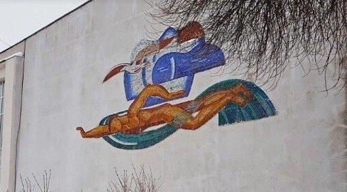 Мозаику с пловцом восстановят на фасаде нижегородского спортклуба «Торпедо» - фото 1