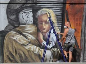 800-метровое граффити, посвященное работе МЧС, появилось на Окском съезде