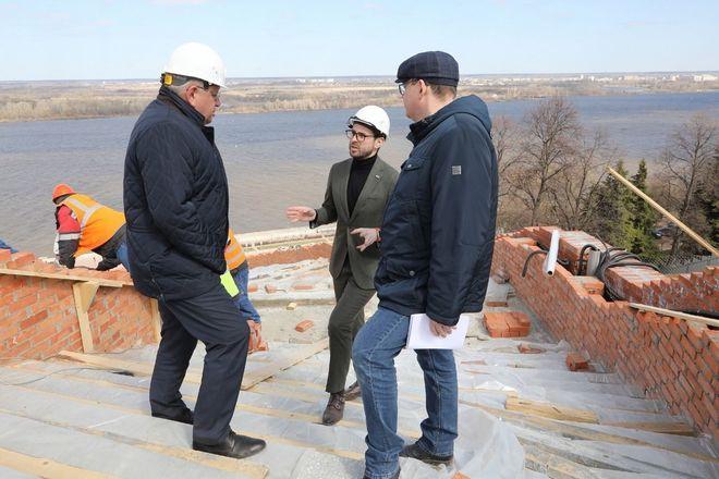 Реконструкция Чкаловской лестницы выполнена на 65% - фото 4