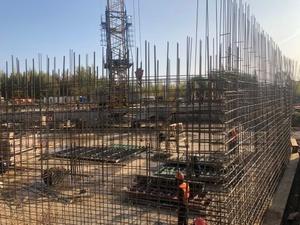 Каркас проблемного дома в ЖК «Университетский» готов на треть