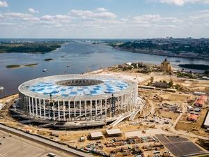 Над трибунами стадиона «Нижний Новгород» завершен монтаж кровли