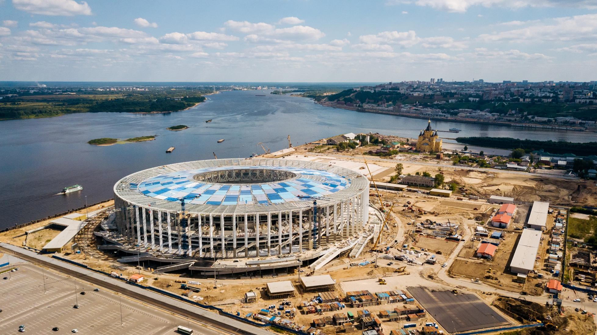 Делегация FIFA довольна подготовкой стадиона «Нижний Новгород» кЧМ