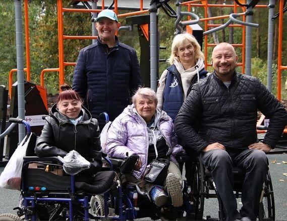Спортплощадка для людей с инвалидностью появилась в Дзержинске - фото 3