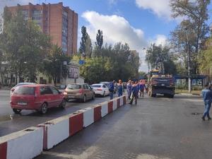 Демонтаж асфальта начинается на улице Циолковского