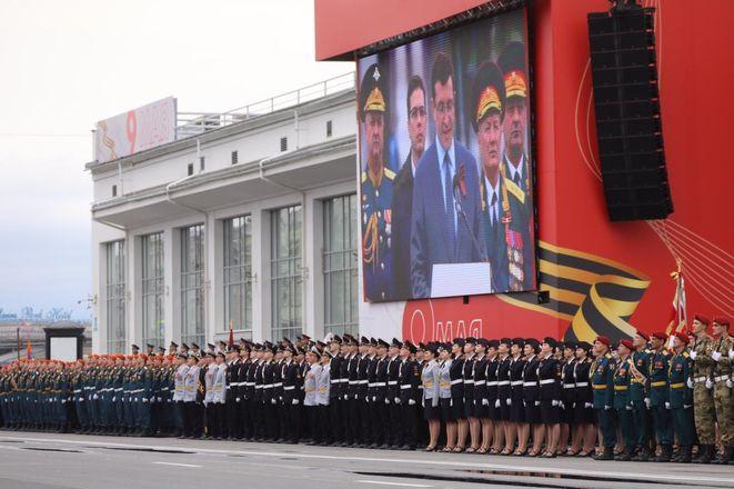 Парад Победы проходит в Нижнем Новгороде - фото 2