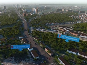 Улицу Циолковского из-за строительства транспортной развязки перекроют не раньше сентября