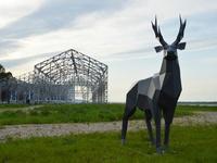 Стальной олень украсил нижегородскую Стрелку
