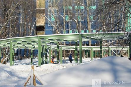 Детский центр в нижегородском парке «Швейцария» готов на треть