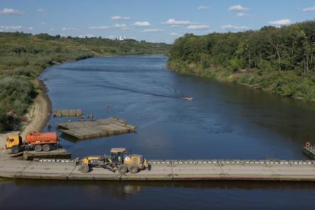 Понтонные переправы наведены на нижегородских реках в рамках строительства трассы М-12