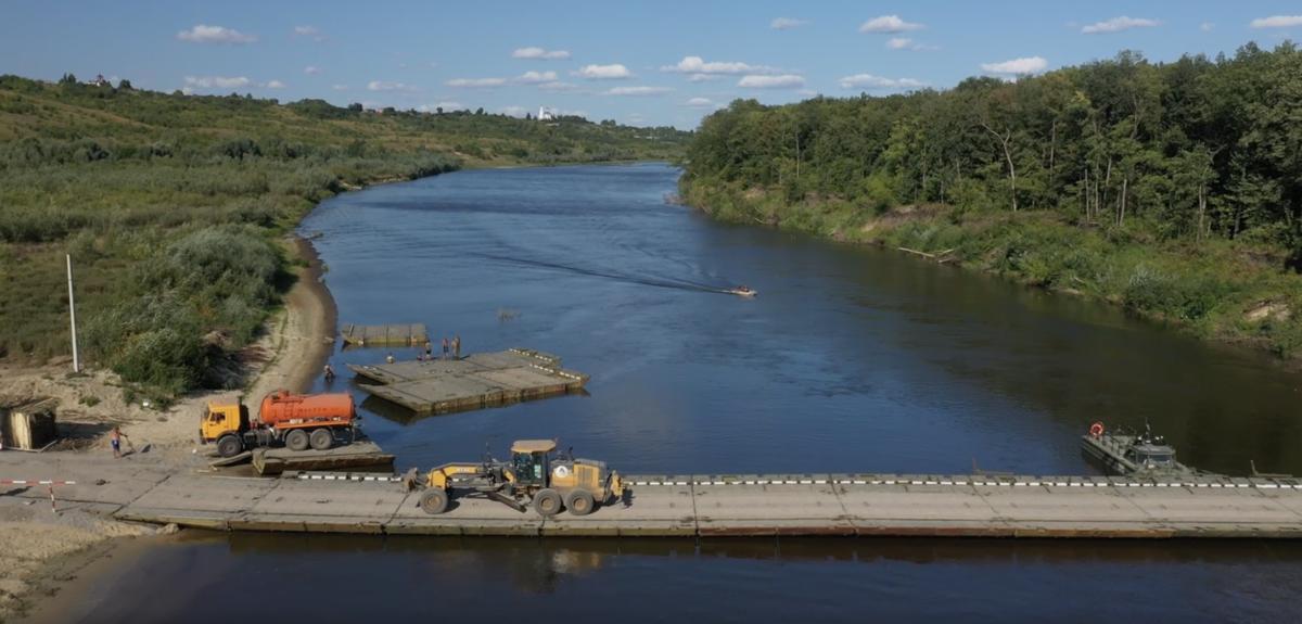 Понтонные переправы наведены на нижегородских реках в рамках строительства трассы М-12 - фото 1
