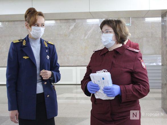 200 пассажиров нижегородского метро получили бесплатные маски - фото 5